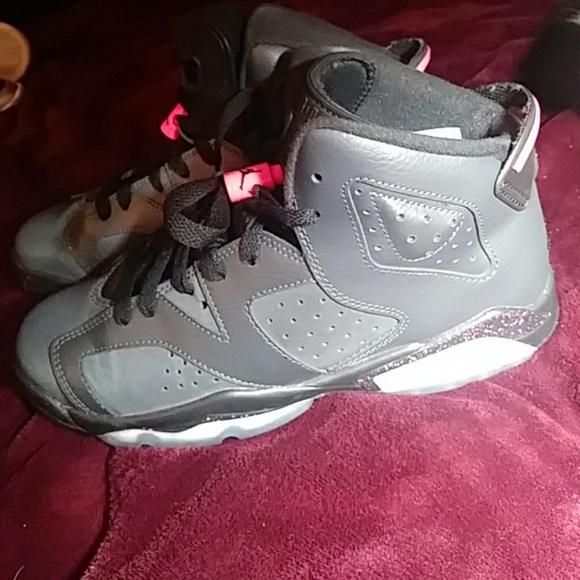 0929925f225 jordan Shoes | S Dark Gray Pink With Paint Splatters | Poshmark